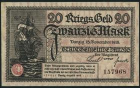 R.789: Danzig 20 Mark 1918 (1-)
