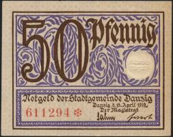 R.790: Danzig 50 Pfennig 1919 (1/1-)