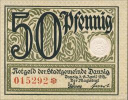 R.791: Danzig 50 Pfennig 1919 (1)