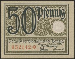 R.791: Danzig 50 Pfennig 1919 (1/1-)
