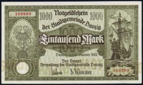 R.794: Danzig 1000 Mark 1922 (1/1-)