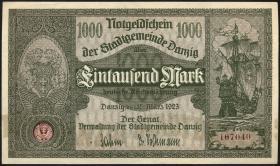 R.795a: Danzig 1000 Mark 1923 (1)