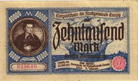 R.799: Danzig 10000 Mark 1923 (3+)