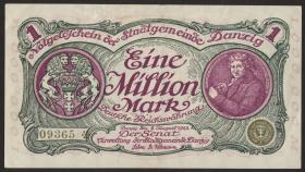 R.802a: Danzig 1 Million Mark 1923 (2)
