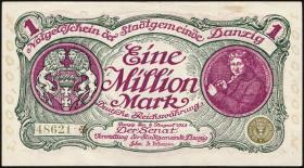 R.802a: Danzig 1 Million Mark 1923 (1-)
