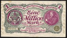 R.802a: Danzig 1 Million Mark 1923 (3+)