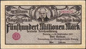 R.807a: Danzig 500 Millionen Mark 1923 (1/1-)