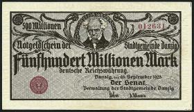 R.807b: Danzig 500 Millionen Mark 1923 (2+)