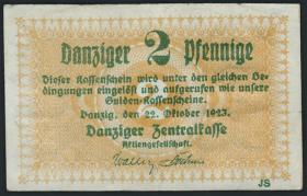 R.812: Danzig 2 Pfennige 1932 (3+)