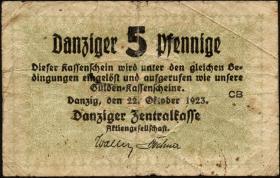 R.813: Danzig 5 Pfennige 1923 (4)