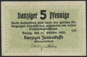 R.813: Danzig 5 Pfennige 1923 (2)