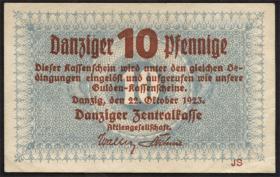 R.814a: Danzig 10 Pfennige 1923 (2)