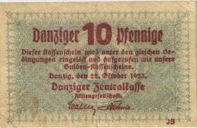 R.814a: Danzig 10 Pfennige 1923 (3)