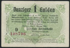 R.817: Danzig 1 Gulden 1923 (3)
