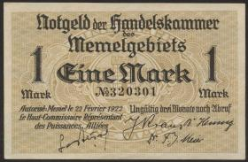 R.847: Memelgebiet 1 Mark 1922 (1)