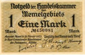 R.847: Memelgebiet 1 Mark 1922 (1/1-)