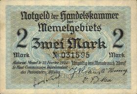 R.848a: Memelgebiet 2 Mark 1922 (1)