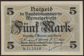 R.849a: Memelgebiet 5 Mark 1922 (1)
