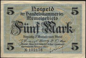 R.849a: Memelgebiet 5 Mark 1922 (2)