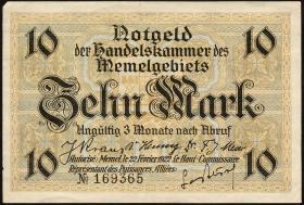 R.850a: Memelgebiet 10 Mark 1922 (2)