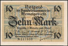 R.850b: Memelgebiet 10 Mark 1922 (1)