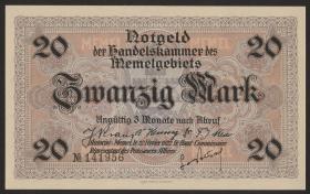 R.851b: Memelgebiet 20 Mark 1922 (1/1-)