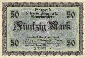R.852a: Memelgebiet 50 Mark 1922 (1)
