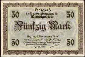 R.852a: Memelgebiet 50 Mark 1922 (2+)