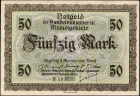 R.852b: Memelgebiet 50 Mark 1922 (1-)