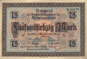 R.853: Memelgebiet 75 Mark 1922 (1/1-)