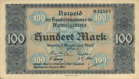 R.854: Memelgebiet 100 Mark 1922 (2+)