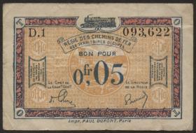 R.855a: Rheinland 0,05 Franc (1923) (3)