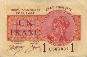 R.866: Saar 1 Franc 1930 (3+)