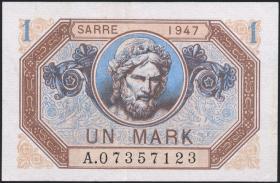R.867: Saarland 1 Mark 1947 (2+)
