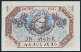 R.867: Saarland 1 Mark 1947 (1-)