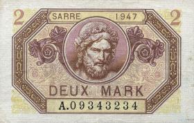 R.868: Saarland 2 Mark 1947 (2)