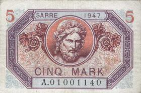 R.869: Saarland 5 Mark 1947 (1/1-)