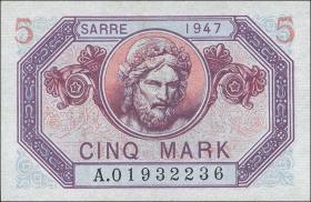 R.869: Saarland 5 Mark 1947 (1)