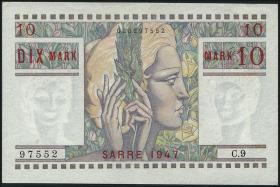 R.870: Saarland 10 Mark 1947 (2+)