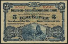 R.900: Deutsch-Ostafrika 5 Rupien 1905 (3+)