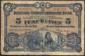 R.900: Deutsch-Ostafrika 5 Rupien 1905 (4)