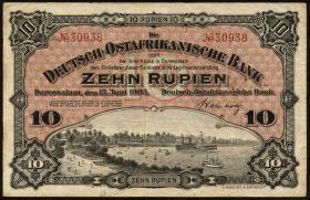 R.901: Deutsch-Ostafrika 10 Rupien 1905 (3+)