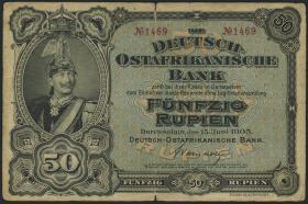 R.902a: Deutsch-Ostafrika 50 Rupien 1905 4-stellig (4)