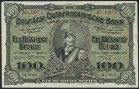 R.903b: Deutsch-Ostafrika 100 Rupien 1905 (2+)