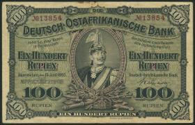R.903b: Deutsch-Ostafrika 100 Rupien 1905 5-stellig (3)