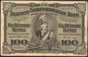 R.903b: Deutsch-Ostafrika 100 Rupien 1905 (3-)