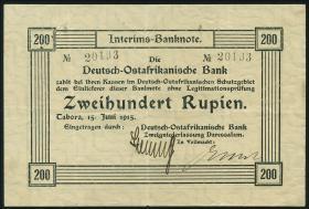 R.908b: Deutsch-Ostafrika 200 Rupien 1915 (3+)