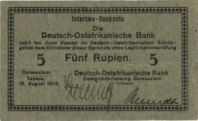 R.910b: Deutsch-Ostafrika 5 Rupien 1915 B (3)