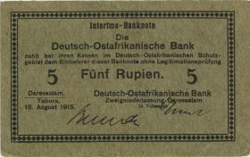 """R.910c: Deutsch-Ostafrika 5 Rupien 1915 C (3) """"Behrendt"""""""