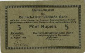 """R.910c: Deutsch-Ostafrika 5 Rupien 1915 C (2) """"Kielich"""""""
